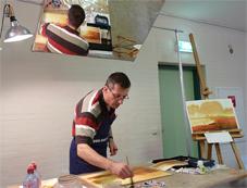 Demonstratie Guy Gruwier, Masterclass Aquarel Groesbeek, atelier van vegchel