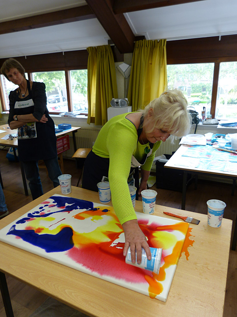 MasterClass aquarel XL, Margo van Vegchel en Jolanda Farenhorst