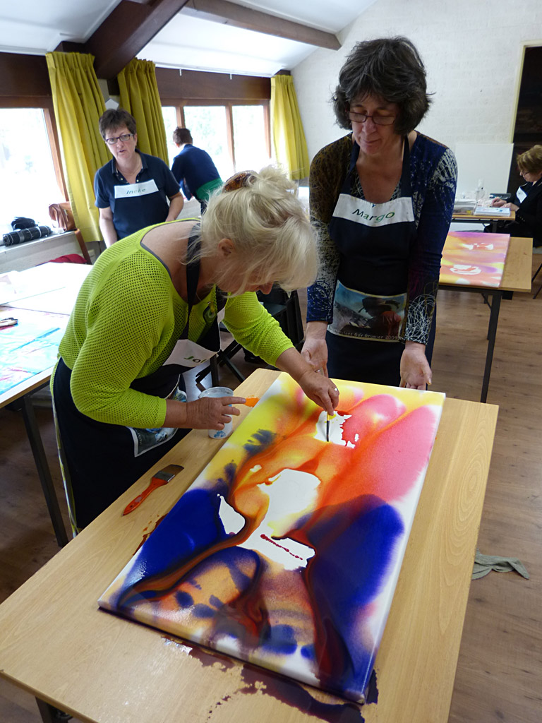 MasterClass aquarel XL, Margo van Vegchel en Jolanda Farenhorst 2
